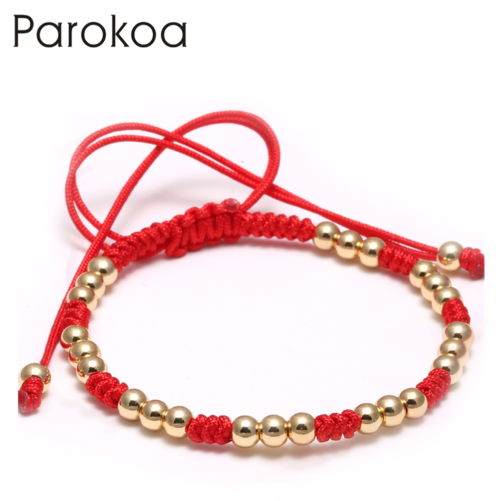 Hot sale designer gold ladies bracelet with red string bluk sale ...