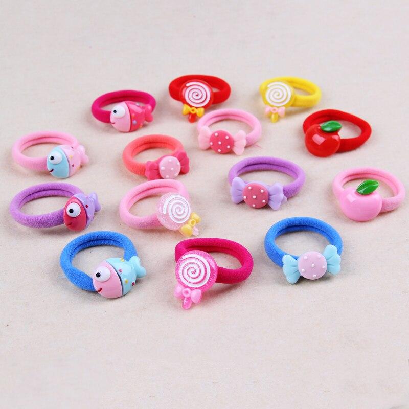 4PCS New Candy Lollipops Elastic Hair Bas