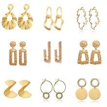 2018 Big Geometric earrings Fashion Earrings  For Women Hanging Stud Drop Earing modern Statement Jewelry
