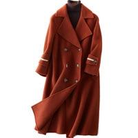 Spring Autumn Coat Women Clothes 2019 Apricot Wool Coat Female Jacket Korean Elegant Ladies Coats Casacos Abrigo Mujer ZT2206