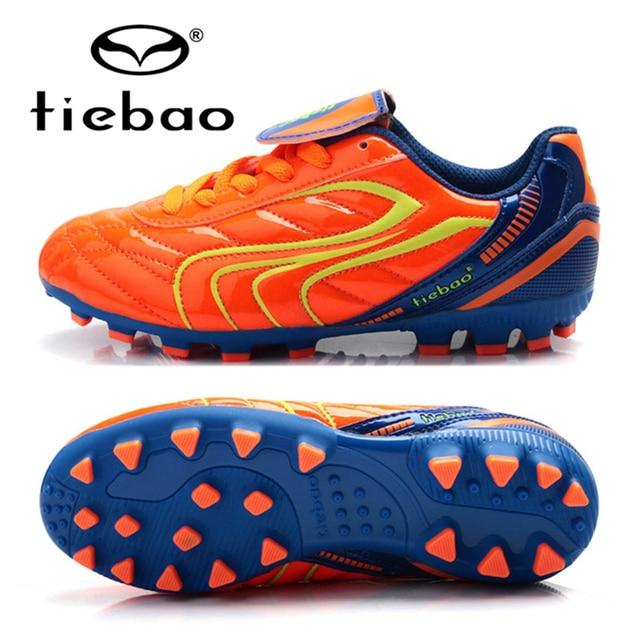 TIEBAO Professional Children Kids' Shoes Outdoor AG Soles Football Boots Sneakers Boys Girls Soccer Cleats Botas De Futbol