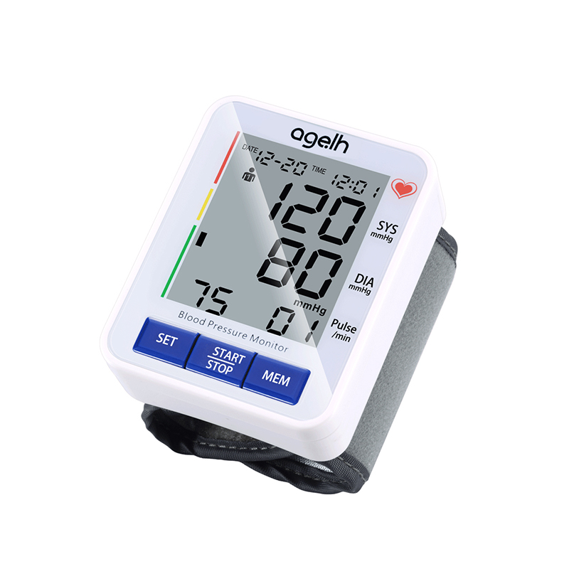 Digital Automatic Wrist Blood Pressure Pulse Monitors Tonometer Tensiometro Portable Home Health Care Meters Sphygmomanometer in Blood Pressure from Beauty Health