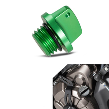 NICECNC зеленый заливочного отверстия Кепки для Kawasaki Ninja 650 1000 400 600 ER4N ER6F ER6N Z800 Z1000 Z650 ZXR750/R VERSYS 650 1000