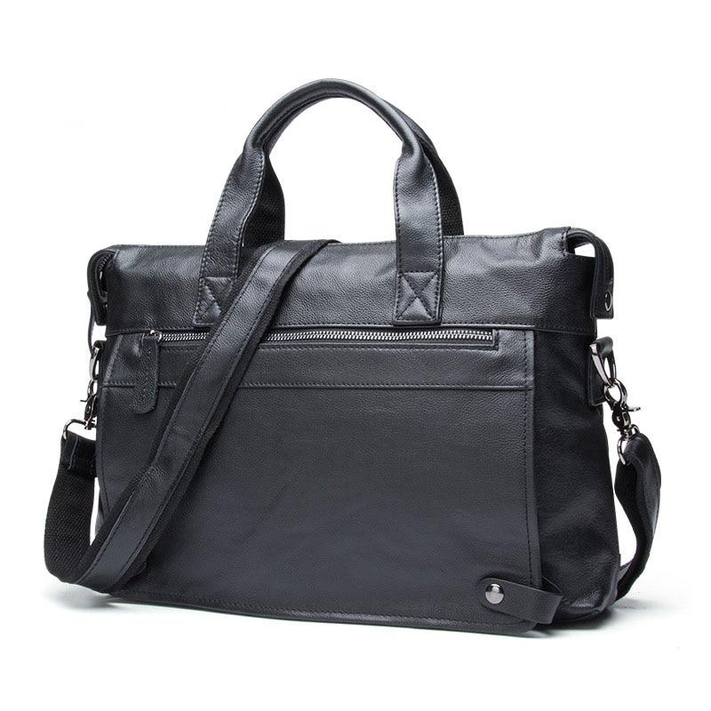 AETOO Business Leather Men 's Bag Leisure Casual Messenger bag Briefcase large real Leather Men' s laptop Bag
