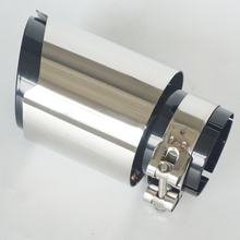 Universal Car Exhaust Pipe Tail Muffler Stainless steel Glossy Chrome Plating black 63mm In 89mm Out