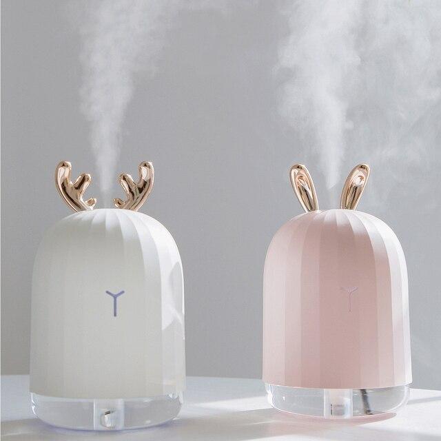 Высокое качество 220 мл ультразвуковой увлажнитель воздуха Арома эфирное масло диффузор для домашнего автомобиля USB Fogger тумана со светодиодной ночной лампой