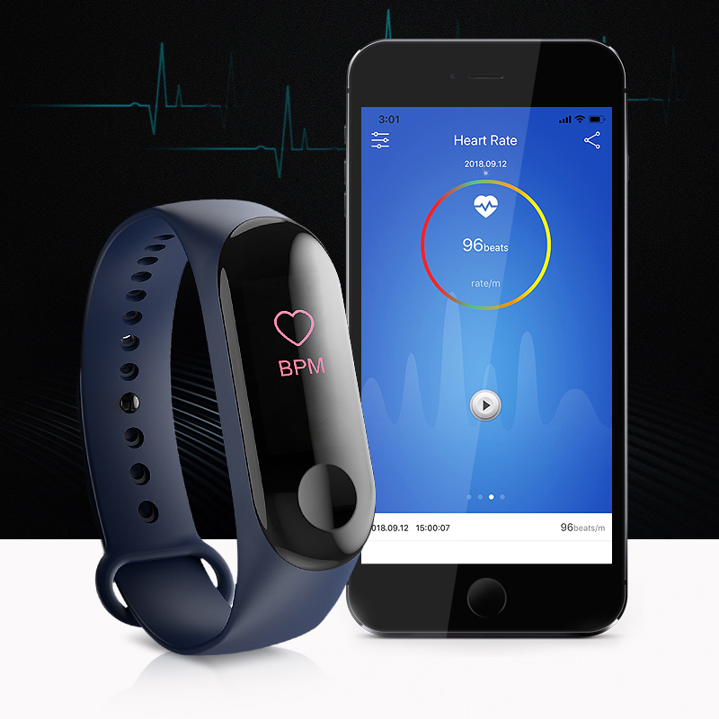 M3 Smart Watch Men Women Heart Rate Monitor Blood Pressure Fitness Tracker Smartwatch Sport Smart Clock Watch For IOS Android in Smart Watches from Consumer Electronics