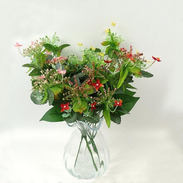 12pcs/lot Silk Artificial Flowers Jasmine Bunch Home Decor Party ...