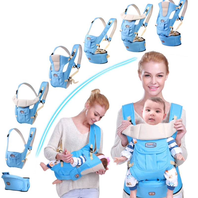 2017 Adjustable Baby Carrier sling Breathable baby kangaroo hipseat backpacks & carriers Multifunction removeable backpack sling gabesy baby carrier ergonomic carrier backpack hipseat