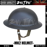 WWII WW2 UK British MK2 Brytyjski Wojskowy Armii Kask Kask Zestaw UK/407101