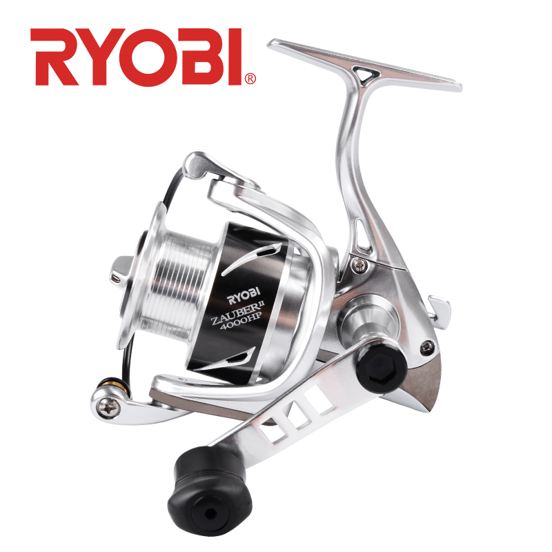 18 Original RYOBI ZAUBER II Spinning Fishing Reel 8+1bearings 5.0:1/5.1:1 Gear Ratio Handle Power 1000 2000 3000 4000 Metal Body