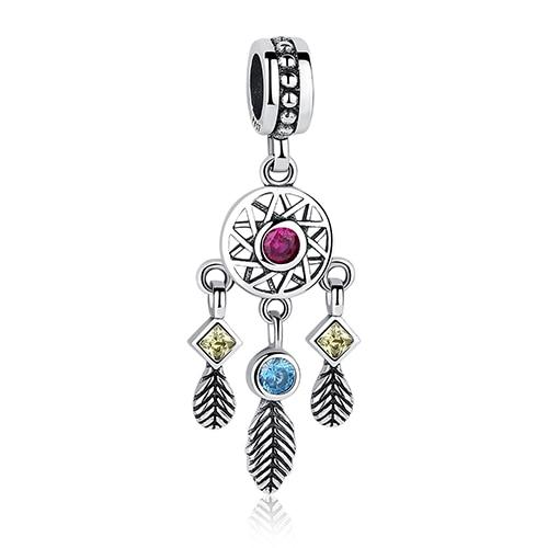 DIY Серебряный Шарм подходят Pandora браслет Бусины стерлингового серебра 925 Любовь мотаться Шарм crystal сердце, цветок, башня, дерево из бисера - Цвет: PY1424