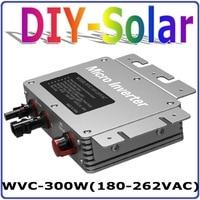 300 W Legame di Griglia Micro Inverter con Funzione di MPPT 6-grade, 36VDC a AC180-260V o 80-160 V Power Inverter, impermeabile IP67