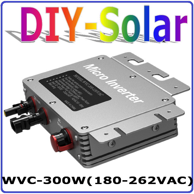 300W Grid Tie Micro Inverter with 6-grade MPPT Function, 36VDC to AC180-260V or 80-160V Power Inverter, Waterproof IP67 22 50v dc to ac110v or 220v waterproof 1200w grid tie mppt micro inverter with wireless communication function for 36v pv system