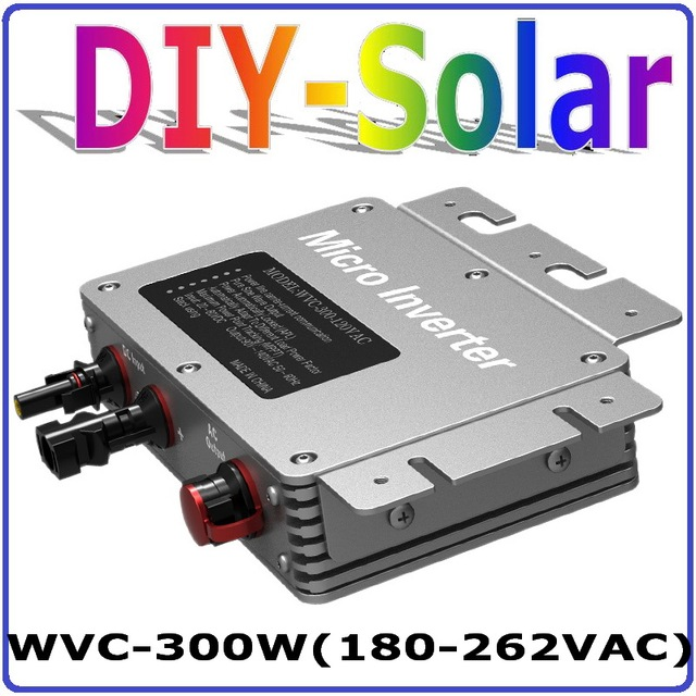 300W Grid Tie Micro Inverter with 6-grade MPPT Function, 36VDC to AC180-260V or 80-160V Power Inverter, Waterproof IP67
