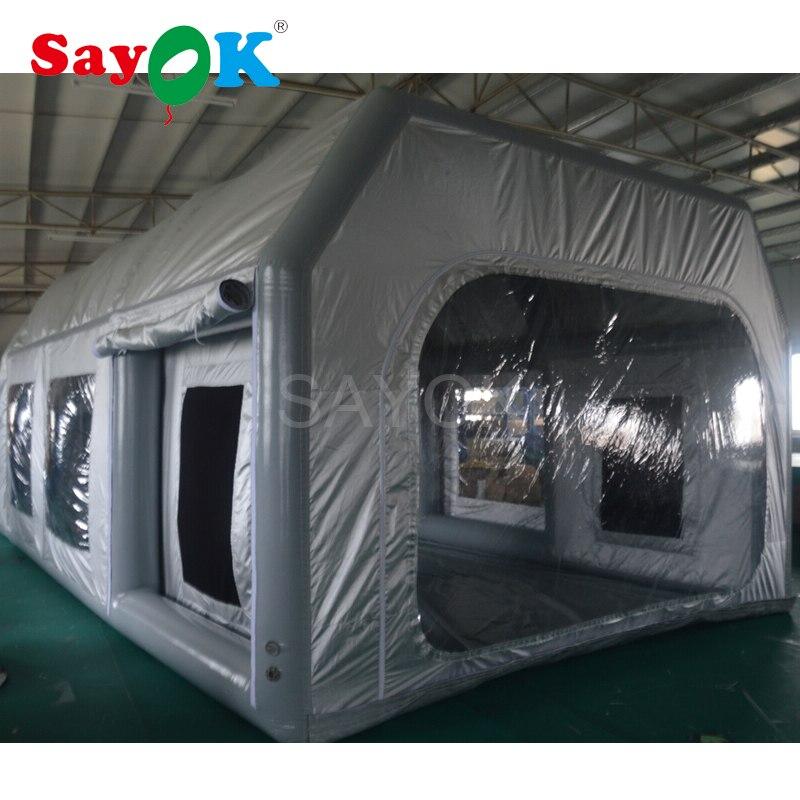 Напольная надувная покрасочная палатка 7x4x2,8 м краска ing автомобильная палатка Автомобильная комната Портативная надувная аэрозольная каме