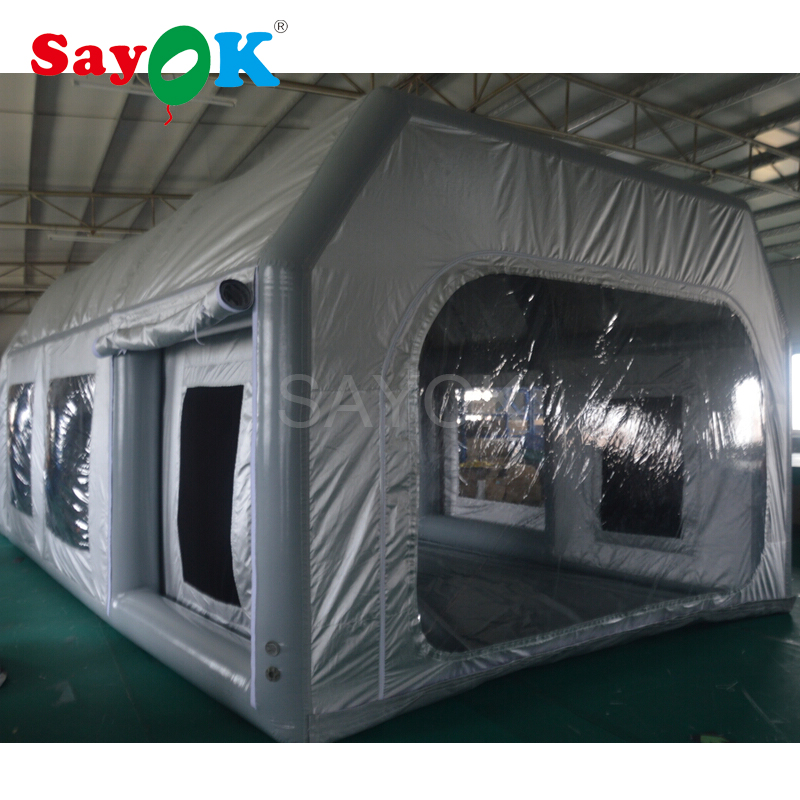 Outdoor Inflatable Paint Booth 7x4x2.8m Painting Car Tent