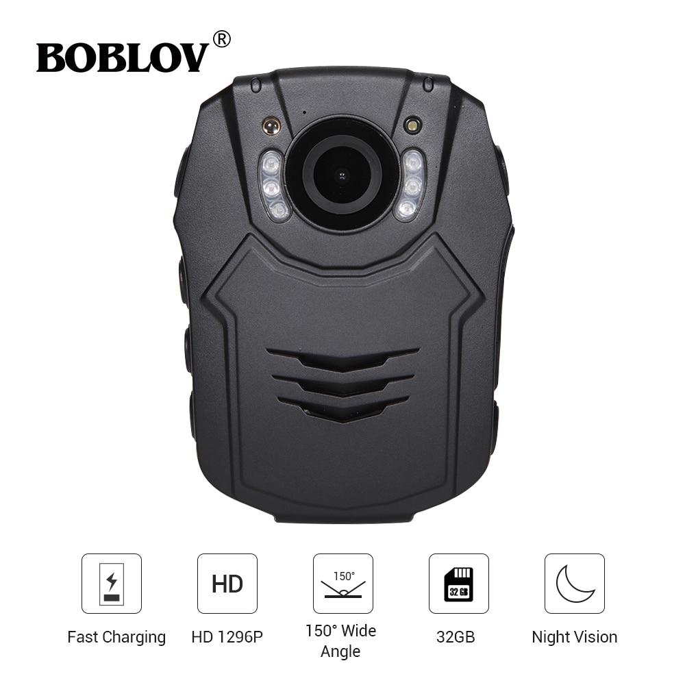BOBLOV 32GB/64GB HD 1296P Mini Camera Novatek 96658 Police Body IR Night Vision 32MP Video Camcorder