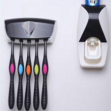 Автоматический диспенсер для зубной пасты набор 5 настенная подставка для зубных щеток-установленный принадлежности для ванной комнаты туалетные принадлежности 1 шт. A10892