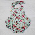 Floral Baby Romper,Cheap Baby Clothes for Girls,Cute Toddler Clothing 1 year Playsuit,#P0152