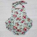 Floral Mameluco Del Bebé, Ropa de Bebé Baratos para Las Niñas, Ropa de Niño Lindo 1 año Playsuit, # P0152