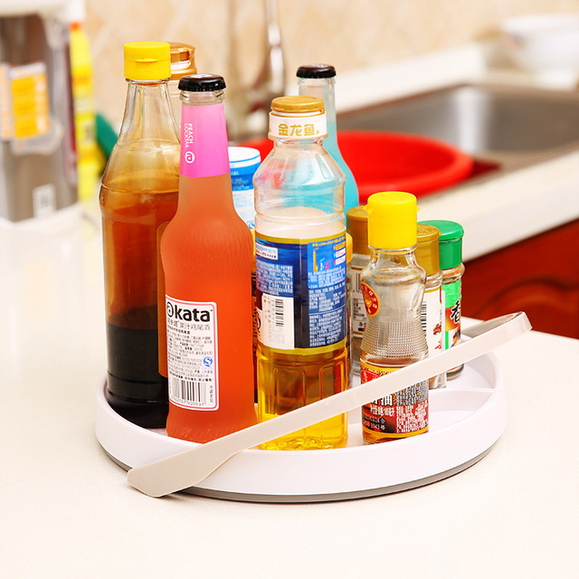 11 Inch Turntable Lazy Susan Spice Flavoring Rack Kitchen Storage Holder & 11 Inch Turntable Lazy Susan Spice Flavoring Rack Kitchen Storage ...