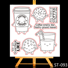 ZhuoAng Delicious juice Clear Stamps/Card Making Holiday decorations For  scrapbooking Transparent stamps 10*10cm