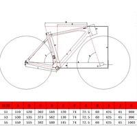 OG-EVKIN Last 2018 Carbon Road Frame Disc Brake UD Matt BSA Cyclocross Bike Bicycle Carbon Frame Disc Road Bike Frame 51/53/55cm 5