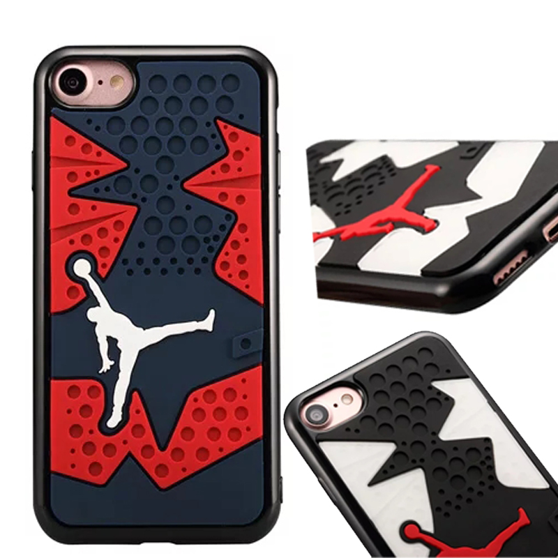 2018 classic Jordan 14 Shoe Sole Rubber case For iphone 7 8 High-quality three-dimension ...