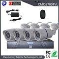 Дешевые 4CH full hd камеры видеонаблюдения кмоп-камера 700TVL 960 h 4CH dvr kit водонепроницаемые Anolog пуля камеры системы домашнего наблюдения