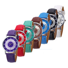 Fashion quartz Analog wrist watch Leather Band Ladies Casual bracelet watch relogio feminino montre femme wholesale