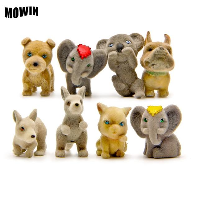 GroBartig MOWIN 4 Teile/los Pet Shop Elefanten Welpen Katze Känguru Schöne Tier  Modell Kits Tisch