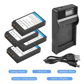 Pack de 2 BLS 1 BLS1 BLS-1 baterías de Li-ion recargable + LCD cargador para OLYMPUS E-PL1 E400 E410 E420 E450 E620 E-P1E-P2 L15