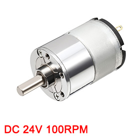 цена на Uxcell Newest 1Pcs DC 100RPM 24V Micro Gear Box Motor Speed Reduction Gearbox Centric Output Shaft