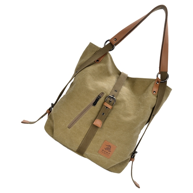 Women Fashion Casual Canvas Multifunctional Messenger Bag 4