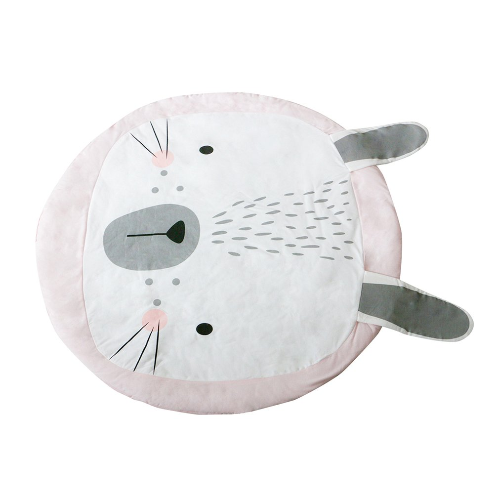 OCDAY Cute Animal Rabbit Baby Crawling Mat Baby Sleep Game Play Mat Children Room Decoration Foldable Play Pad for Toddlers Kids