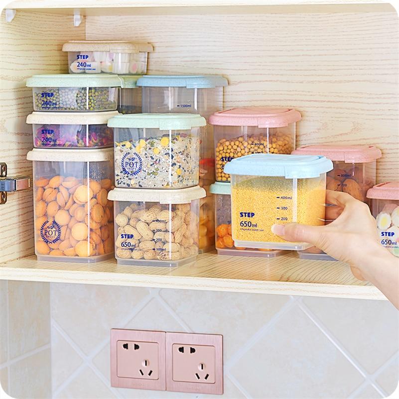 JiangChaoBo Kitchen Storage Tank Serbatoio di plastica Serbatoio di - Organizzazione e deposito in casa - Fotografia 2