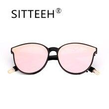 SITTEEH gafas de Sol 2018 nuevas gafas de ojo de Gato para las mujeres clásico espejo soleil oculos gafas de sol feminino mujer SI448
