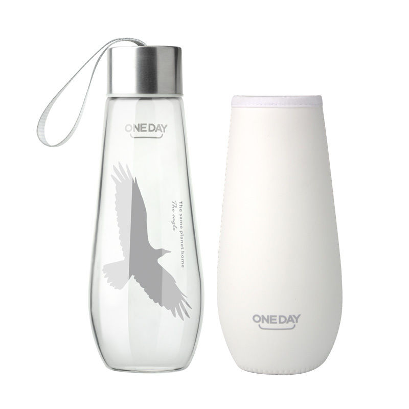 ONEDAY 480ML Eagle Glass Water Bottle Tumbler Coffee Mugs <font><b>Glassware</b></font> Copo Glasses Transparent glass penguin dolphin deer eagle