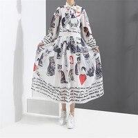 Women Printing Dress 2018 Spring Fashion Printing Long Vestidos Good Quality Women Russian Style Casual Loose