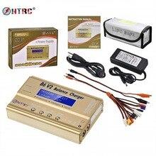 HTRC B6 V2 80 Вт 6A LiPo баланс зарядное устройство 8 в 1 зарядное устройство набор кабелей 15V6A адаптер переменного тока Lipo Безопасный мешок светодиодный аккумулятор Dis зарядное устройство