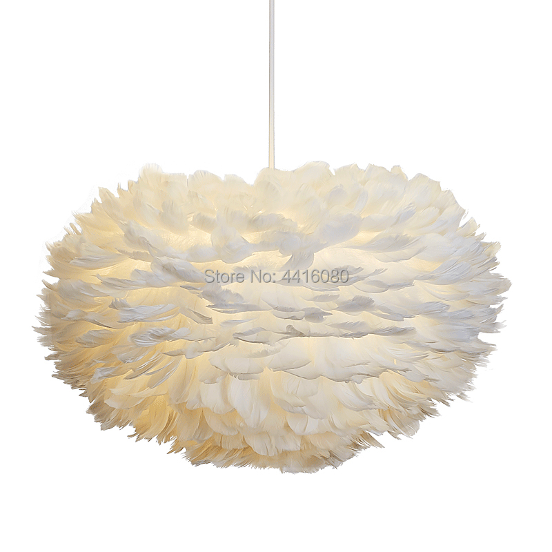 Bedroom chandelier warm romantic creative dining room living room lamp wedding room children room personality feather lamp LED in Chandeliers from Lights Lighting