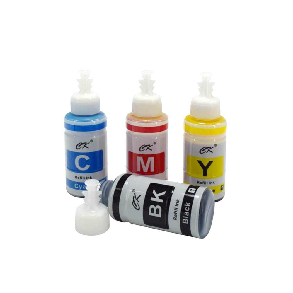 RU CK תואם מבוסס צבע מילוי דיו ערכת עבור Epson מדפסת L100 L110 L120 L132 L210 L222 L300 L312 L355 l350 L362 L366 L550