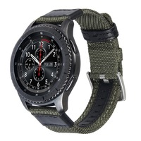 V MORO 22mm Woven Nylon Watch Strap For Gear S3 Band Replacement Bracelet For Gear S3