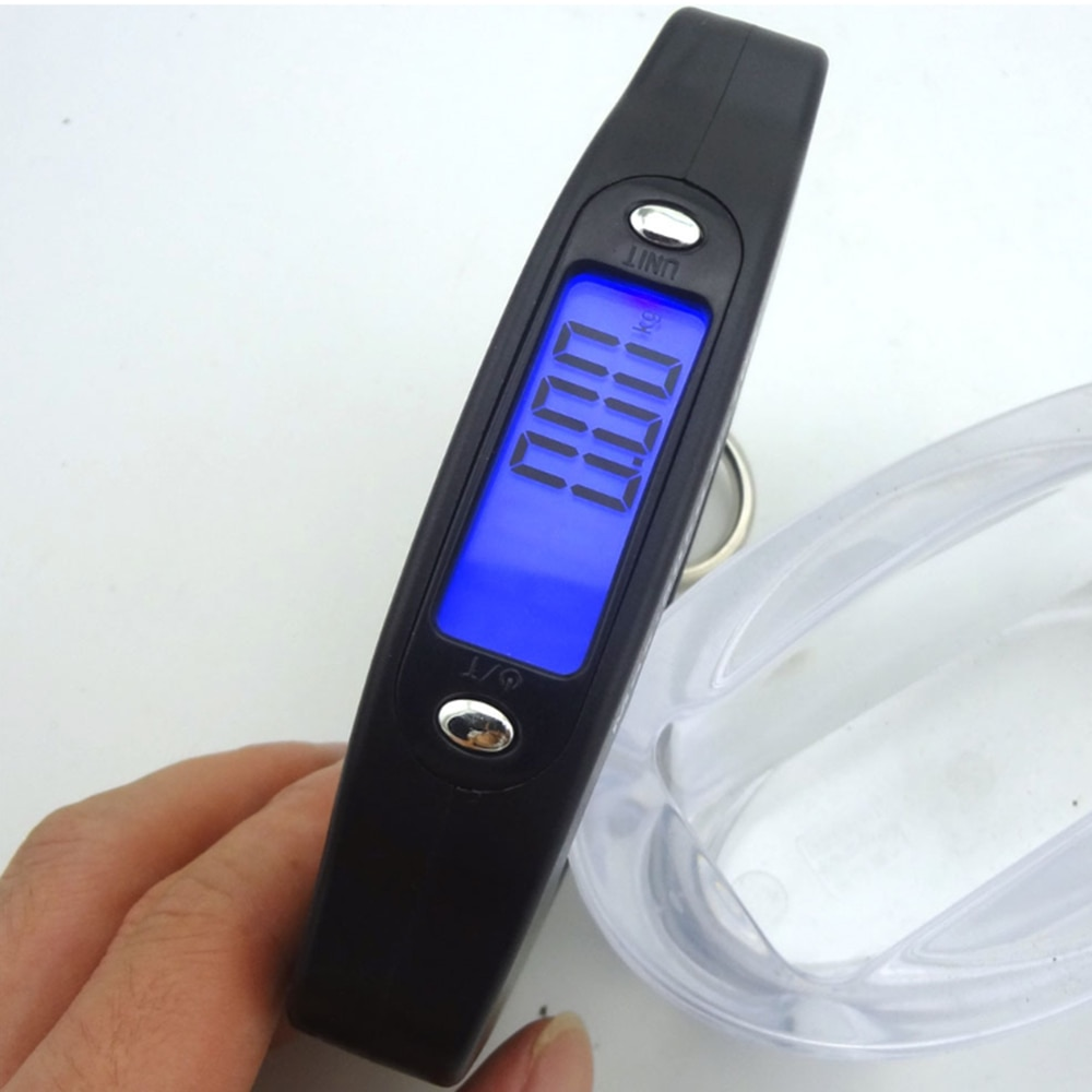 Mini Hand Held Plastic 50kg LCD Digital scale Fishing Hanging Electronic Scale Pocket Hook Weight Luggage Scale