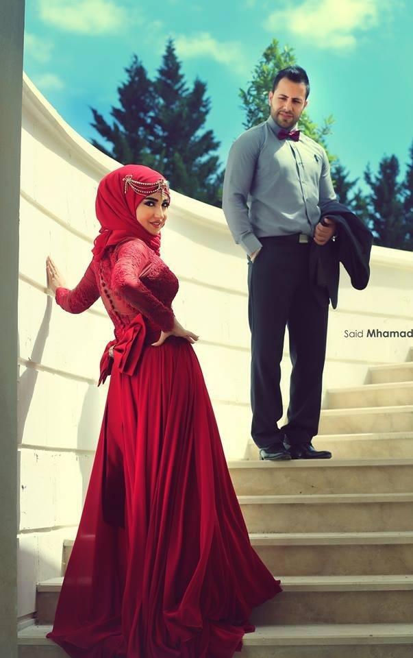 Red Chiffon Muslim Evening Dresses Long Arabic Style Formal Party Gown Special Occasion Vestido De Festa Robe De Soiree Sirene