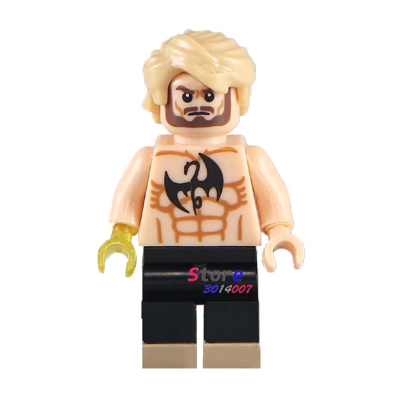Single star wars super heroes marvel comics IRON FIST Danny Rand Defenders building blocks models bricks toys for children kits