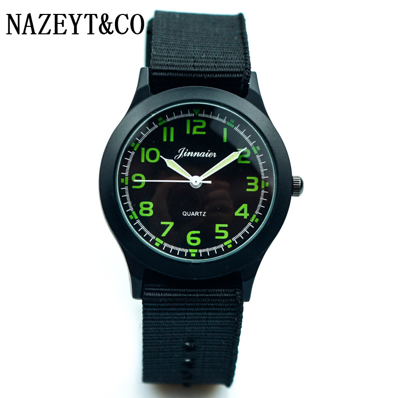 New Fashion Child Army Watch Middle And Little Boys And Girls Students Outdoor Sports Luminous Hands Nylon Unisex Lover Watch