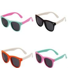 newTR90 fashion boys and girls polarized sunglasses UV400 square silic