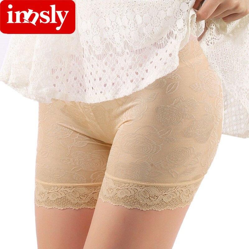 Calças curtas de segurança de renda de alta qualidade respirável mulheres anti esvaziado cueca shorts calças boxer shorty feminino calças de segurança